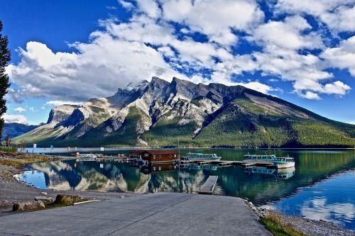 vaizdingas,taikus,atspindys,kalnai,dangus,peizažas,ramus,ežeras,ramus,mėlynas,ramus,natūralus