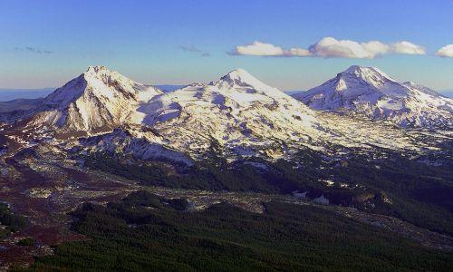 kalnai, vaizdingas, kraštovaizdis, vaizdas, trys seserys, kaskados, deschutes & nbsp, nacionalinis & nbsp, miškas, oregonas, usa, usfs, viešasis & nbsp, domenas, fonas, tapetai, sniegas, smailės, miškas, debesys, dangus, panorama, vaizdingas, dykuma, vaizdingas vaizdas į kalnus