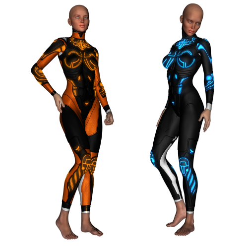 Sci fi, modelis, grožis, nuplikęs, super kostiumas, bio kostiumas, moteris, Moteris, mokslas, bio, kostiumas, kelti, padengti, be honoraro mokesčio