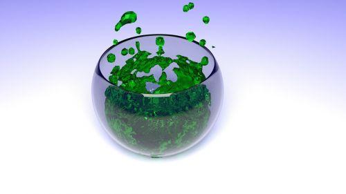 mokslas,laboratorija,cheminis,stiklas,dubuo,kūrybingas,žalias,padengtas,3d art