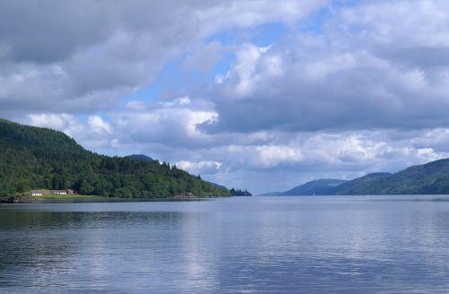 Škotija, Ežeras, Tylus, Dangus, Mėlynas, Debesys, Vasara, Kalnai, Natūralus, Tyla, Ro, Vaizdas, Medžiai