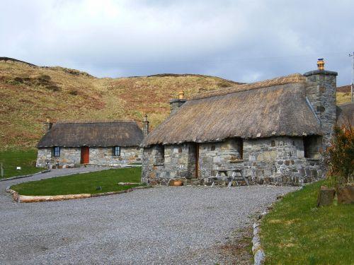 Škotija,isle of skye,sočiųjų kotedžai