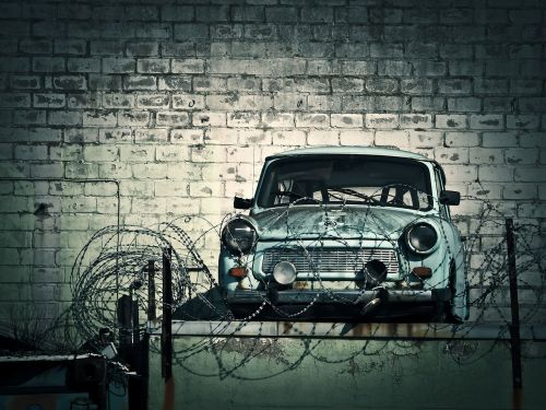 laužas,prekyba laužu,automatinis perdirbimas,senas,palydovas,trabi,transporto priemonė,automatinis,ddr,mažas automobilis,klasikinis,rots