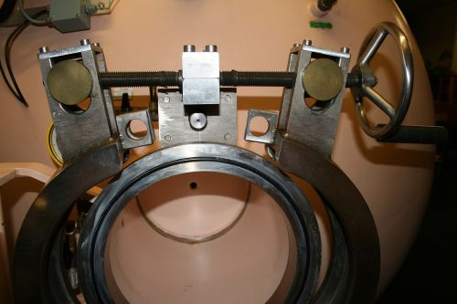 kamera, hyperbaric, užraktas, paslauga, mechanizmas, varžtas, atviras, Uždaryti, Variklio užrakinimo mechanizmas