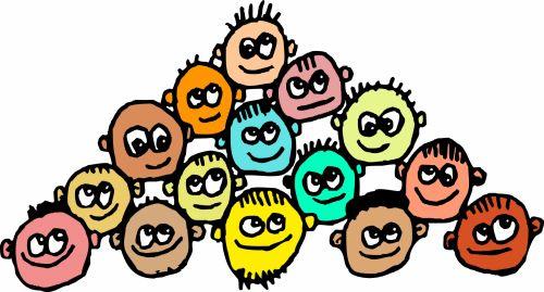 Iliustracijos, clip & nbsp, menas, iliustracija, grafika, žmonės, vyras, Patinas, vyrai, grupė, minios, bendruomenė, įvairus, įvairovė, nešvarus, veidai, skruzdžių veidai