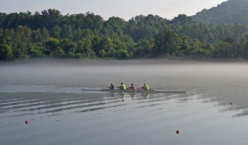 valcavimo greitis rūke,anksti,rytas,komanda,Irklavimas,rūkas,Sportas,clinc upė,Meltono ežeras,Tennessee