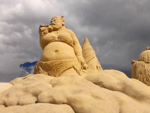skulptūra,smėlis,kūrybiškumas