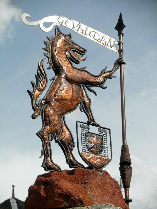 skulptūra, gevaudan, statula, skulptūra metalo, Overnė, Laguiole, žvėris, Monster, legenda