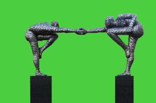 skulptūra,vyrai,harmonija,draugai,Draugystė,draugiškas,patogumas,draugiškas,duoti rankas,purtant rankas,linksmas,džiaugsmas,sėkmingas,novatoriškas