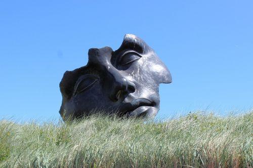 skulptūra,kijkduin,boulevard,veidas
