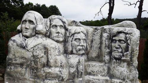 skulptūros,akmuo,statulos,akmens statulos,veidai,keturi,prezidentai,amerikietis