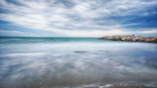jūra,gewitterstimmung,papludimys,kranto,debesuota dangaus