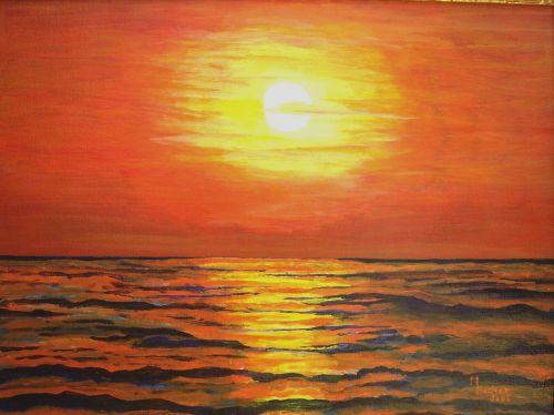 jūra,vakaras,dažymas,vaizdas,menas,dažyti,spalva,meniškai,paveikslų tapyba,menininkai,kompozicija,kūrybiškumas,meno kūriniai,amatų,drobė,dailininkas,kilniai,grafinis,saulė