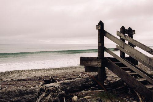 jūra,vandenynas,vanduo,bangos,gamta,dangus,niūrus,mediena,kranto,papludimys