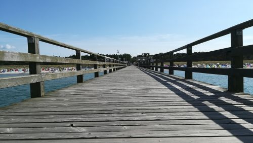 jūra,Baltijos jūra,tiltas,Baltijos jūros tiltas,papludimys,smėlis,vanduo,prerow,toli,dangus,kranto,Baltijos jūros pakrantė