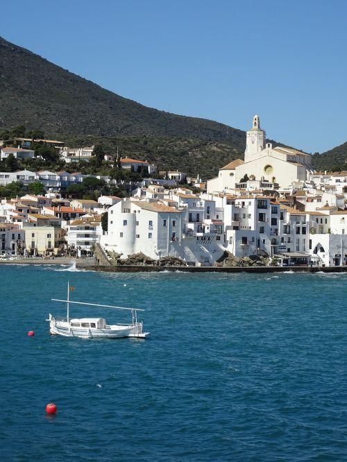 jūra, cadaques, costa, valtis, žmonės, pakrantės miestas, papludimys, Viduržemio jūros, be honoraro mokesčio