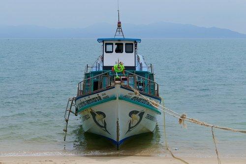 jūra, vandenys, kelionė, valtis, vandenynas, pakrantės, laivas, vasara, Turizmas, atostogos, žvejybos laivas, Tailandas, Koh Samui