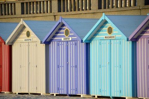 jūra, papludimys, Stella Beach, Hauts de Prancūzija, griebtis, jūros mova, saulėlydžio, gleams, Nameliai, paplūdimio nameliai