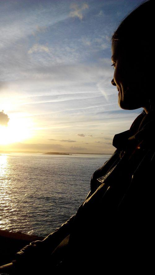 jūra,vandenynas,asmuo,saulėlydis