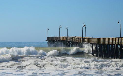 jūros tiltas,banga,išsipūsti,jūra