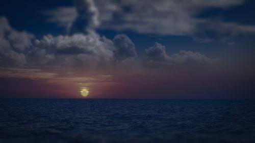 jūros svajonės, svajonė, svajones, jūra, dangus, naktis, mėnuo, saulėlydis, vandenynas, span, be honoraro mokesčio