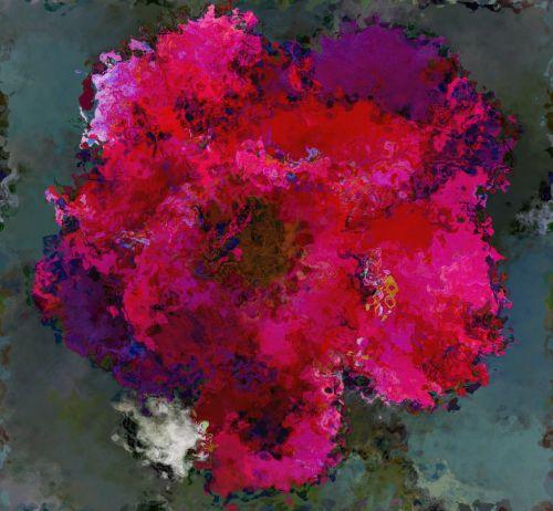 rožė, supjaustytas, rožinis, raudona, abstraktus, plytelės, besiūliai, besiūliai susmulkintų rožių