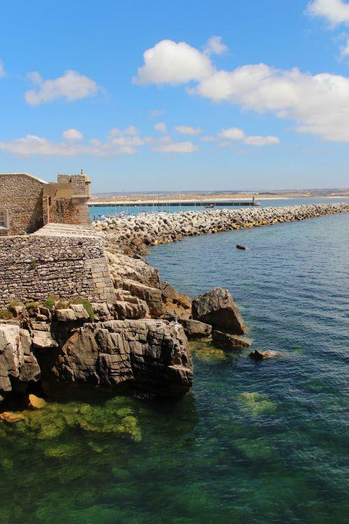 pajūryje, jūra, fortas, akmenys, vasara, vandenynas, pakrantė, gamta, pakrantė