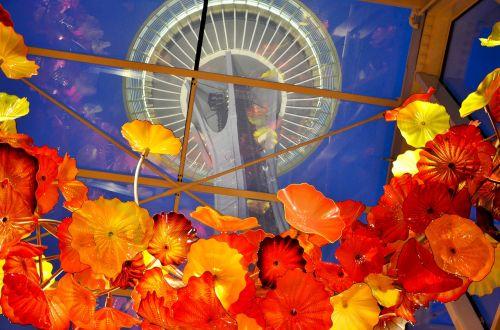 Seattle,kosmoso adata,chihuly sodas ir stiklas