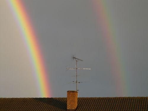 antrinė vaivorykštė,dviguba vaivorykštė,Išsamiau,spalvinga,spalva,vaivorykštė,veidrodis,refrakcija,dvigubas,du,reiškinys,lietus,saulės šviesa,dangus,gamta,spektras,gamtos reiškinys,vaivorykštės spalvos,ray,natūralus spektaklis,žinoma,įspūdingas,debesys,pusiau ratas,violetinė,mėlynas,žalias,geltona,oranžinė,raudona