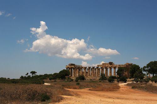 Segesta,sicilija,kraštovaizdis