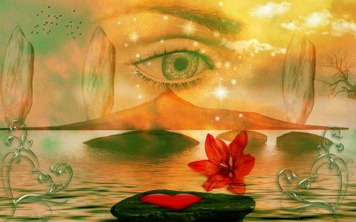 akis, akmenys, vandenys, ašarojimas, ilgesys, fantazija, blakstienos, ežeras, debesys, kraštovaizdis, fonas, moteris, mistinis, ilgesys, fantazija