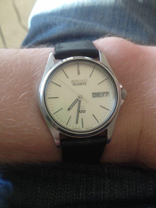 žiūrėti, Seiko, laikrodis, data, darbo diena, antradienis, seiko laikrodis su data