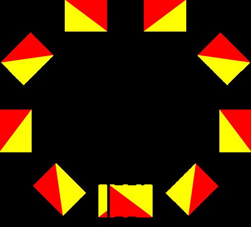 semaforas,vėliava,pozicijos,karinis jūrų laivynas,karinis jūrų laivynas,komunikacija,pranešimas,bendrauti,kriptografija,signalas,ženklas,jūrų,nemokama vektorinė grafika