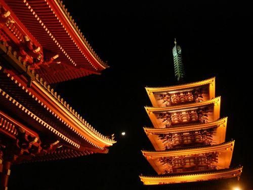 senso-ji šventykla, šventykla, senovės budizmo šventykla, Asakusa, Tokyo, Japonija, kelionė
