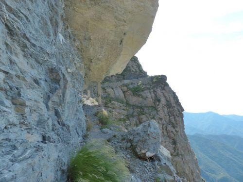Sentiero Degli Alpini, Karinis Takas, Karinis Kelias, Roko Grupės, Tunelis, Gauja, Takas, Žygis, Gta, Grande Traversata Delle Alpi, Nuokalnė, Kietas