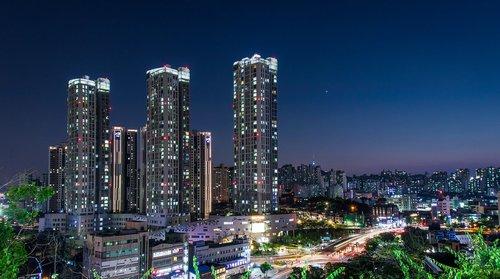 Seulas, naktinis vaizdas, CBD, Miestas, naktis, Korėja, šviesos, naktinis vaizdas Seule, gatvės šviesos, įspūdžiai skyriuje, šviesos užges, Magic valandą, naktinis fotografavimas, dangus, Turizmas, modernus, naktinis peizažas, vakare, statyba, architektūra, struktūra, dizainas