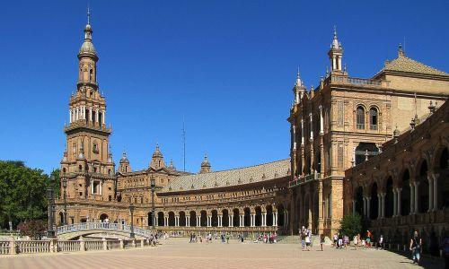 sevilla,vaikų ispanų kalba,maria luisa parkas,architektūra,mansarda,figūra,mudejar stilius,renesanso stilius,baroko stilius,saulėtas,paminklas,muziejus,bokštas,bokštai,tiltas,kvadratas,Ispanija