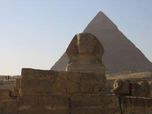 Sfinksas, piramidė, sfinksas