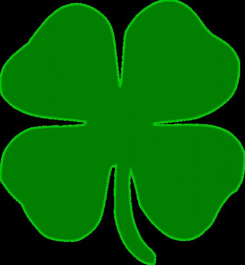 šaukštas,dobilas,airiškas,keturi lapai,žalias,tatuiruotė,sėkmė,trefoil,augalas,nemokama vektorinė grafika