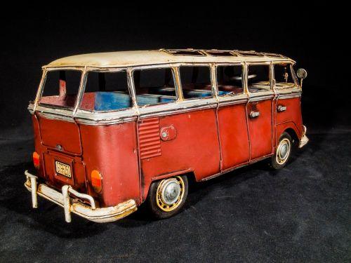 metalo lakštai,modelis automobilis,vw autobusas,Volkswagen,kemperis,kempingų autobusas,Samba autobusas