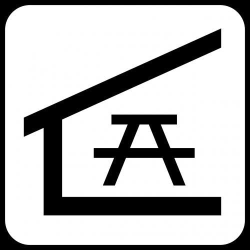 apsaugotas,Vieta iškylai,stendas,Poilsio vieta,poilsio vieta,simbolis,ženklas,piktograma,nemokama vektorinė grafika