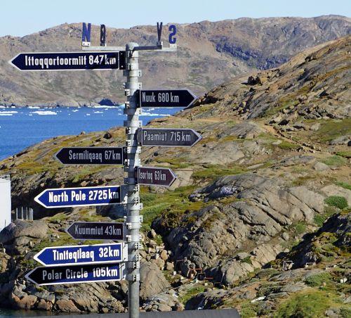 skydas,atstumas,km,rida,Grenlandija,informacijos lentos,ženklai