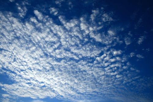 dangus, mėlynas, debesis, balta, masė, blizgantis, mirgėjimas debesų masė