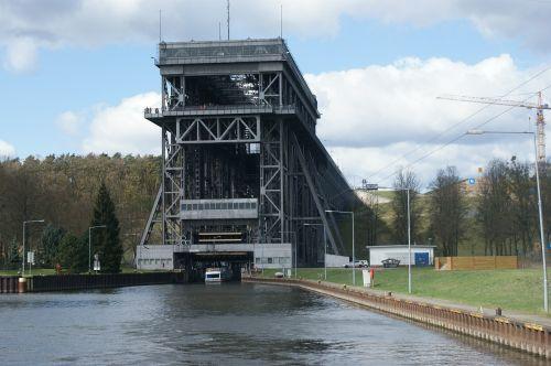 laivo liftas,laivo pakėlimas,laivo liftas,niederfinow,Vokietija,upė,Liftas,valtis,liftas,įranga