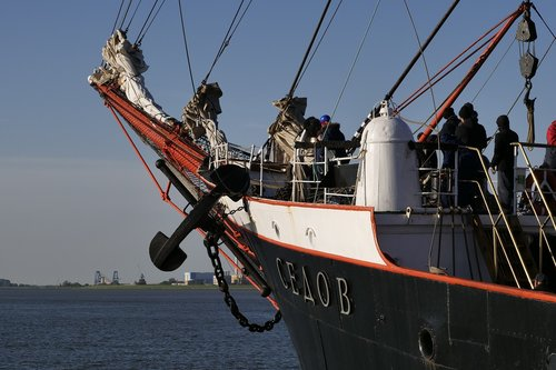 Pristatymas,  Laivas,  Burlaivis,  Plaukti Mokymo Laivą,  Plaukti Mokymo Laivas Sedov,  Bugšprite,  Takelažas,  Vandens,  Jūra,  Grindų Inkarai