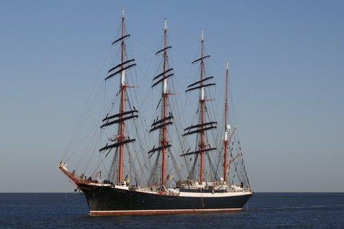 Pristatymas,  Plaukti Mokymo Laivas Sedov,  Keturių-Masted Barkentyna,  Burlaivis,  Karinis Jūrų Laivynas,  Vandens,  Jūra,  Plaukti Mokymo Laivą,  Burė