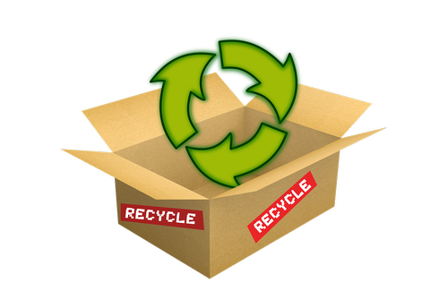 Pristatymas dėžė, perdirbti, paketas, kartono, perdirbimas, aplinka, Nemokama iliustracijos