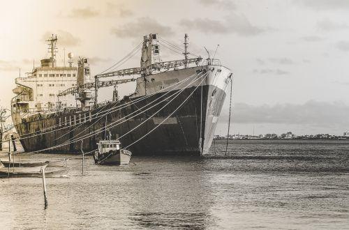 Laivai, Juoda Ir Balta, Švartuotas, Rio, Sergipe, Arakaju, Barra Dos Coqueiros