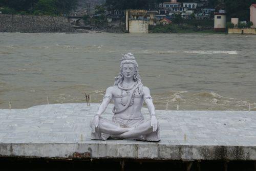 šiva,statula,Viešpatie,dievas,medituojantis,laikysena,hinduizmas,skulptūra,religinis,joga,hindu,Rishikesh,Indija
