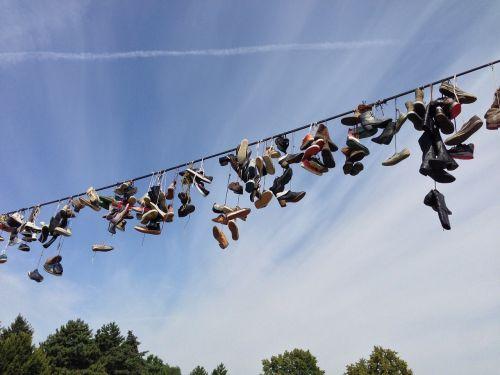 avalynė,priklausyti,pakabukas,pakabinti,shoelaces,dangus,aukštas aukščiau,out,menas,gamta